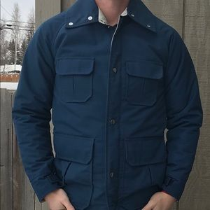 Vintage Field Jacket XS Insulated Blue Made In USA